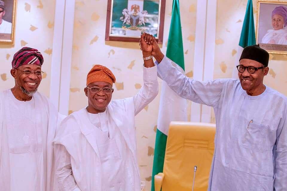 'Be-magnanimous-in-victory',-Buhari-congratulates-Oyetola