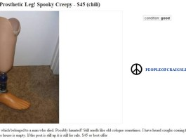 Craigslist Haunted Prosthetic Leg