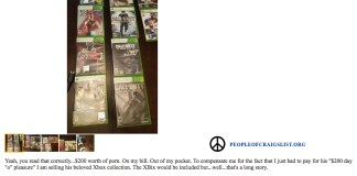 Dad sells sons xbox games on craigslist