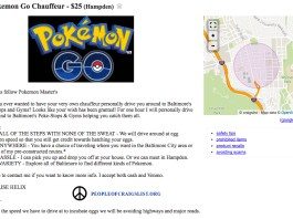 Craigslist Pokemon go transport