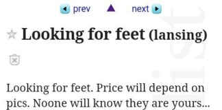 Looking for feet on craigslist