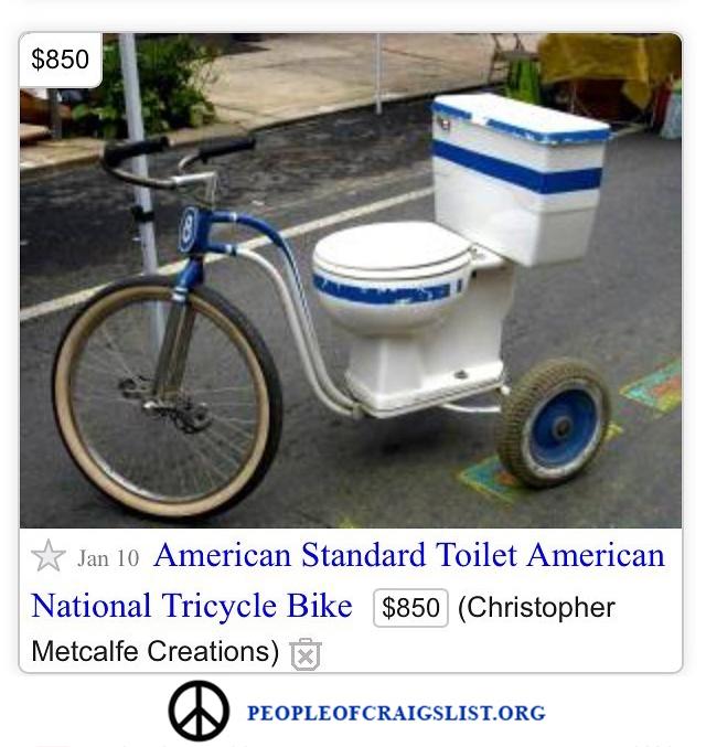 Craigslist american standard toilet bike