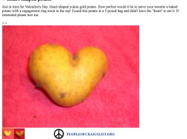 craigslist heart shaped potato