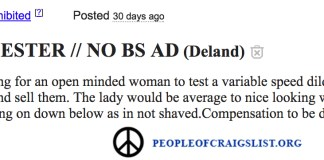 craigslist tester needed