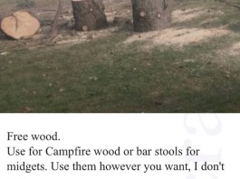 free wood on craigslist