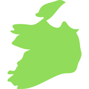 Republic of Ireland map outline