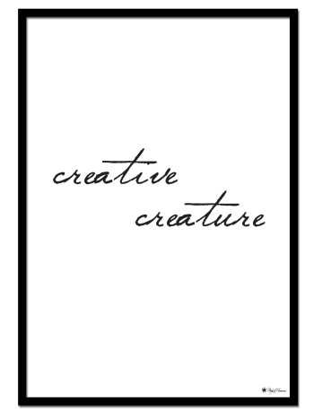 Creative Creature poster | Typography poster with handwriting font.