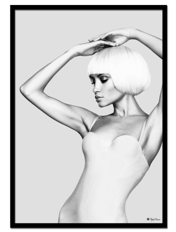 "I Am Woman #3 poster | Black and white poster of a woman in bathing suit. Match with ""I Am Woman #1"" and ""I Am Woman #2"" for the perfect gallery wall."