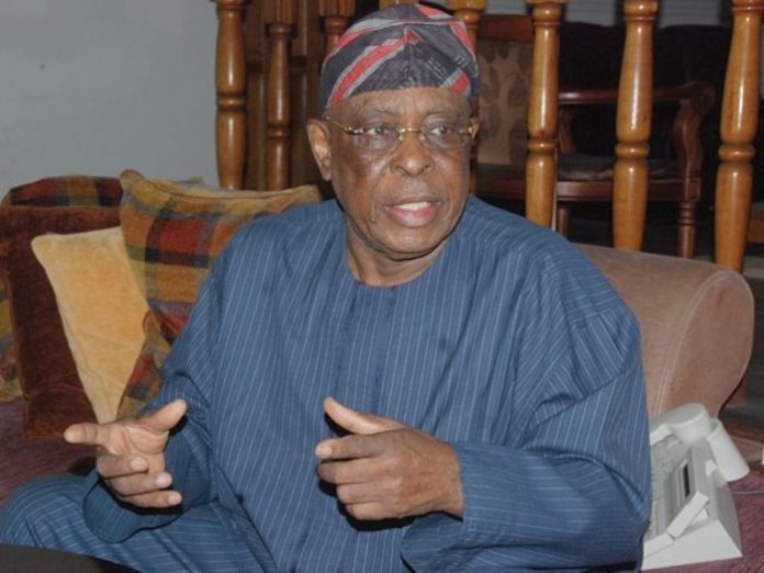 Chieftain of the ruling All Progressives Congress (APC) and former governor of Ogun state, Aremo Segun Osoba