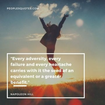Napoleon Hill quote about tough times
