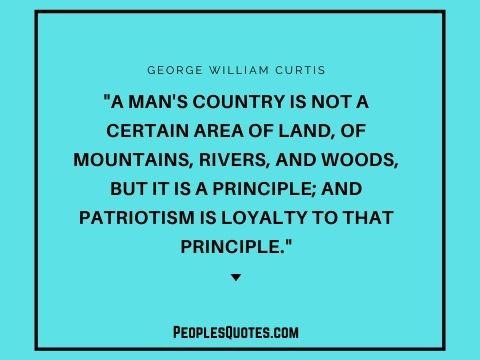 George William Curtis quotes about patriotism