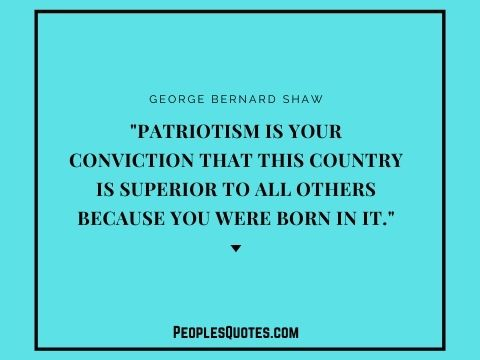 George Bernard Shaw quote on patriotism