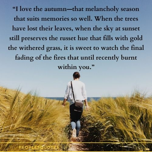 I love the autumn quotes