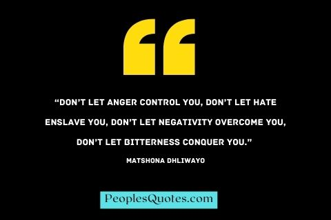 Don't let bitterness conquer you