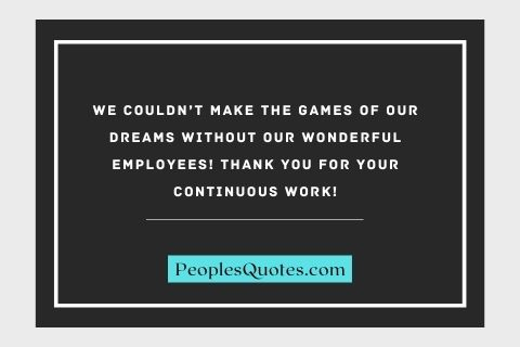 Appreciation Quotes For Employees