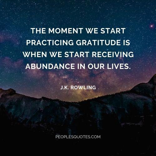 Gratitude Abundance Quotes