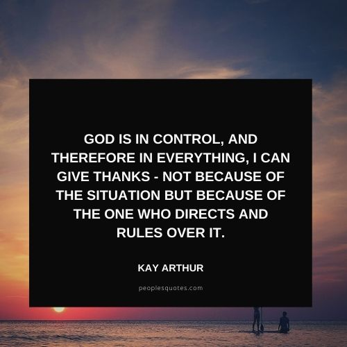 God is in Control Quotes with images