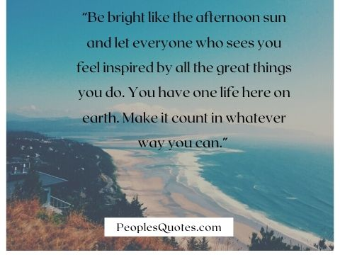 Sunny Afternoon Quotes