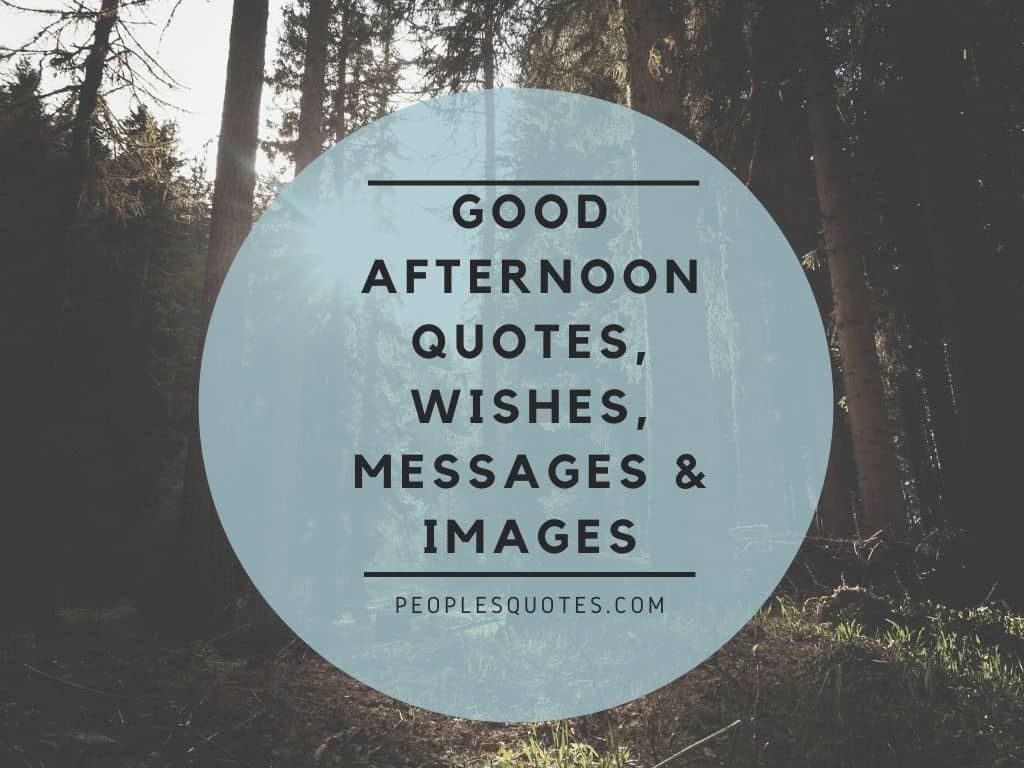 Good Afternoon Quotes, Wishes, Messages & Images