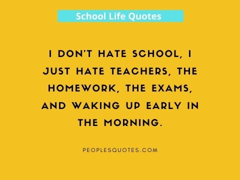 Funny school quotes images