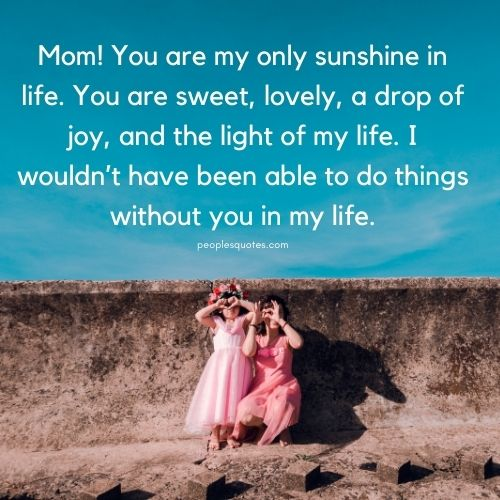 You are my sunshine quotes for Mom and Dad