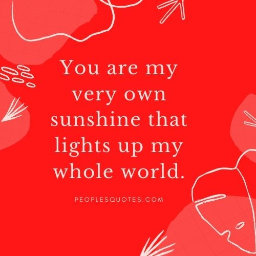 you are sunshine in my life quote