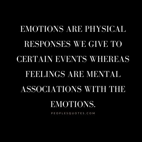 feelings are mental associations with the emotions.