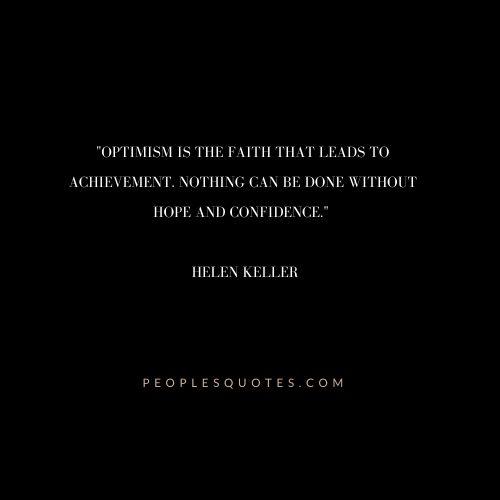 Helen Keller Quotes on Optimism