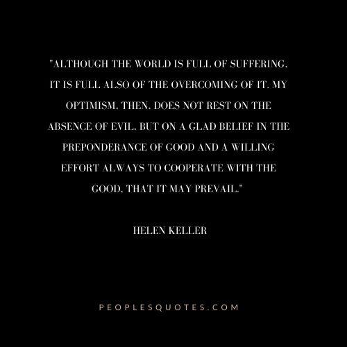 Helen Keller Optimism Quotes