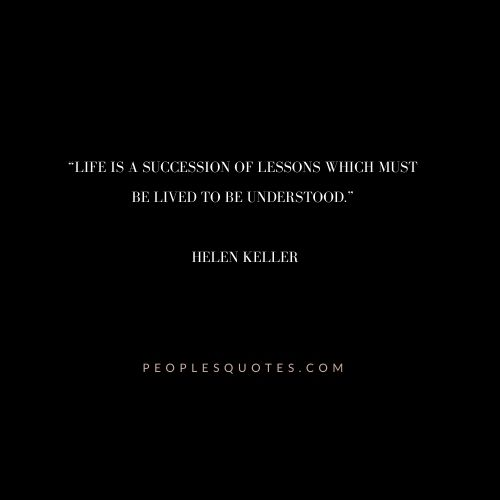 Helen Keller quotes on Life