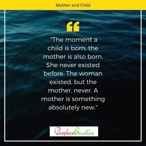 Mother and Child Short Quotes