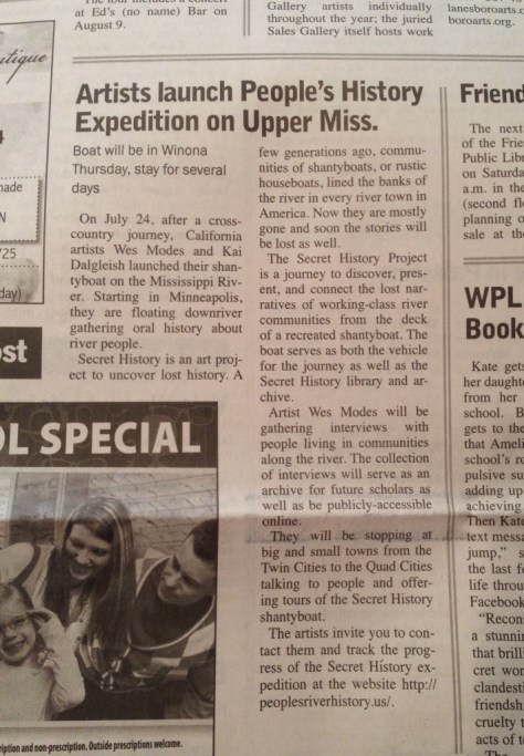 Earlier Article in the Winona Post