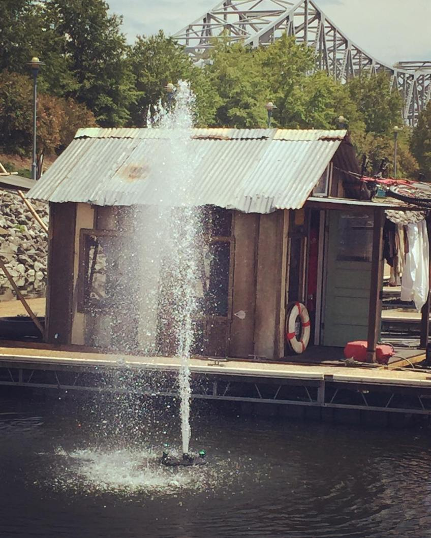 Secret History shantyboat open house at Florence Harbor Marina