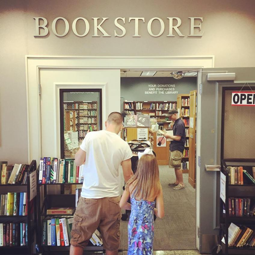 Most brilliant idea ever. A used bookstore at the Florence public library