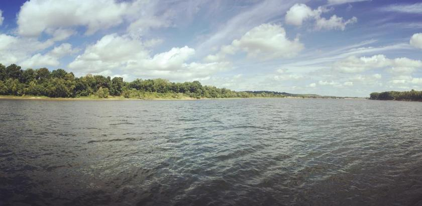 Pittsburg Landing, the landscape where one of the great battles of the American Civil War was fought, the Battle of Shiloh. Confederate forces surprise attacked a Union division lead by Ulysses Grant working their way up the Tennessee River. The Union Army prevailed only because they were reinforced by several divisions on day two
