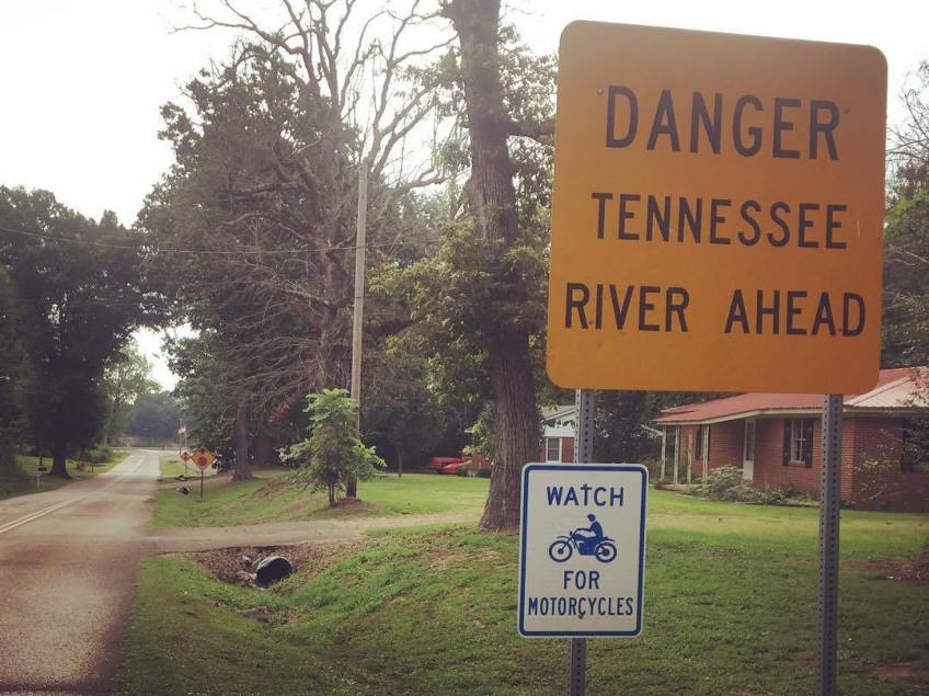 Captivating on several levels. Main St of Saltillo leads right down a boat ramp to the river with a half dozen stop signs near the end. Perhaps they had a problem'tDriveInTheRiver