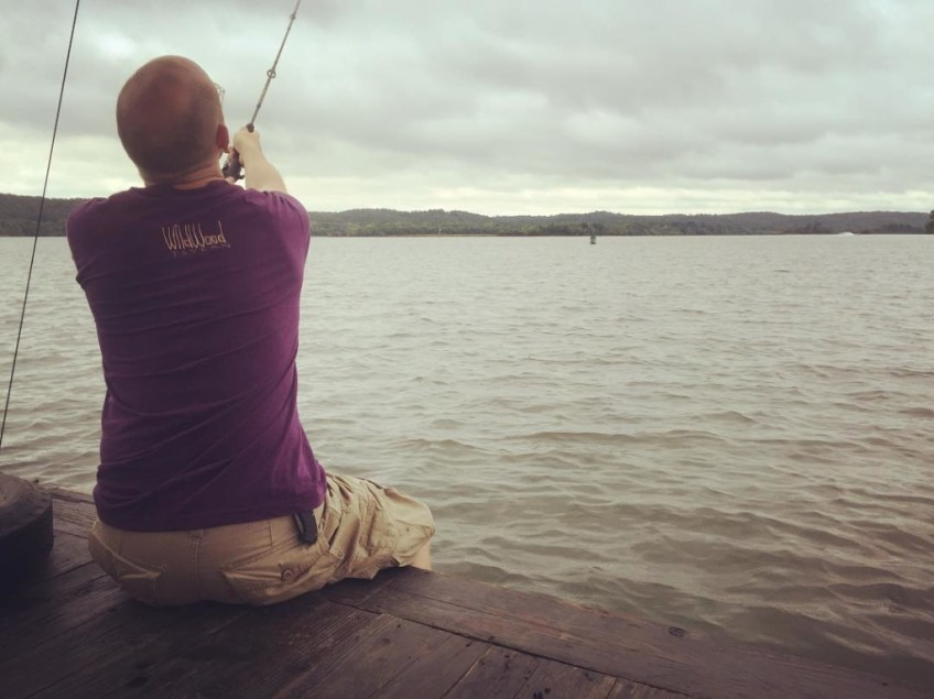 Fishing for breakfast at the confluence of the Duck River with the Tennessee
