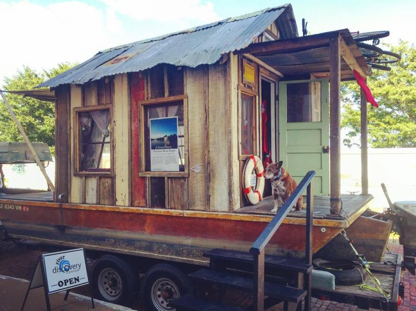 Shantyboat On display today and tomorrow. Open House 10-2pm Saturday at the River Discovery Museum on Water St in Paducah