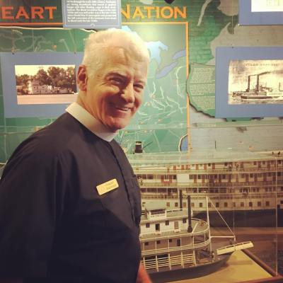 Rev Kempton Baldridge one of a few chaplains for more than 4000 towboats and riverboats on American Rivers