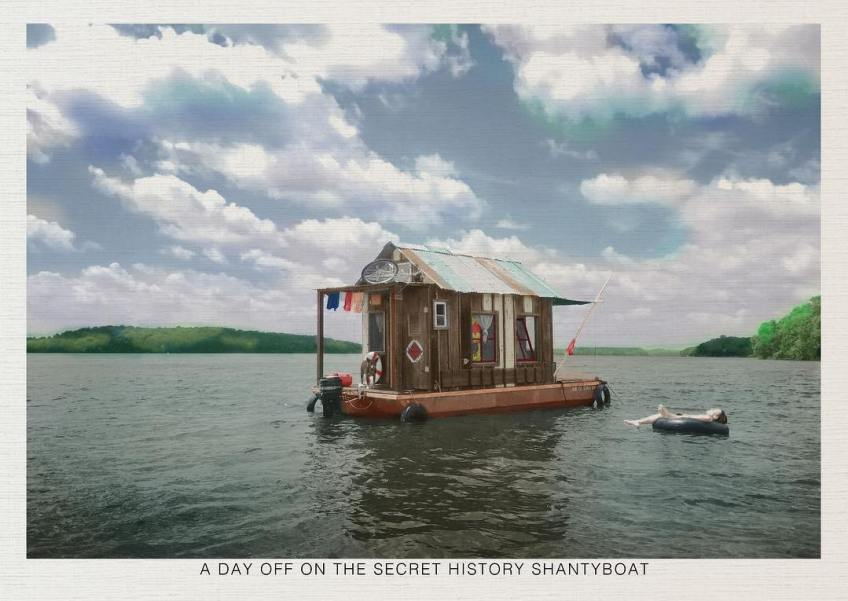 """""""A day off on the Secret History shantyboat"""