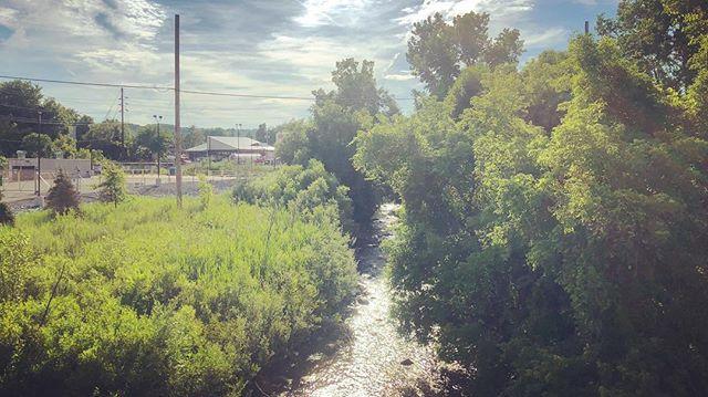 A river runs through it. Anthony Kill winds through Mechanicville