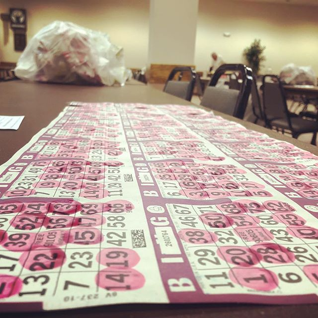 Nearly played bingo. Apparently you have to show up on time because all the cards are sold within a few minutes
