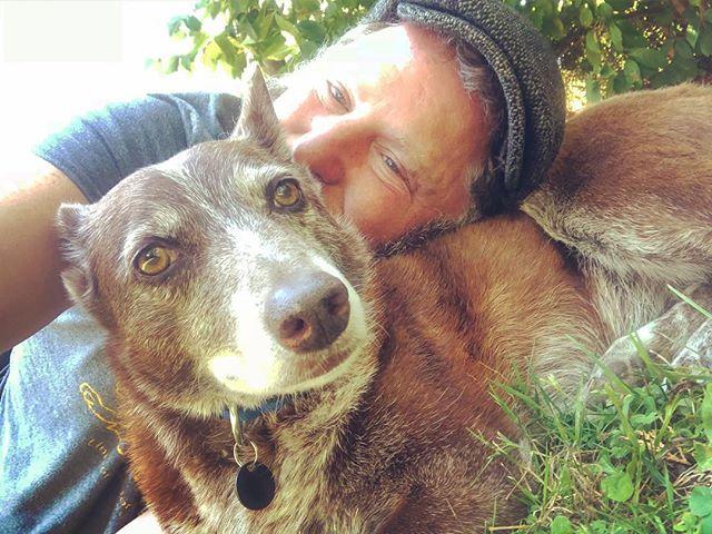 @gooddoghazel and I wait for the laundry #shantyboat
