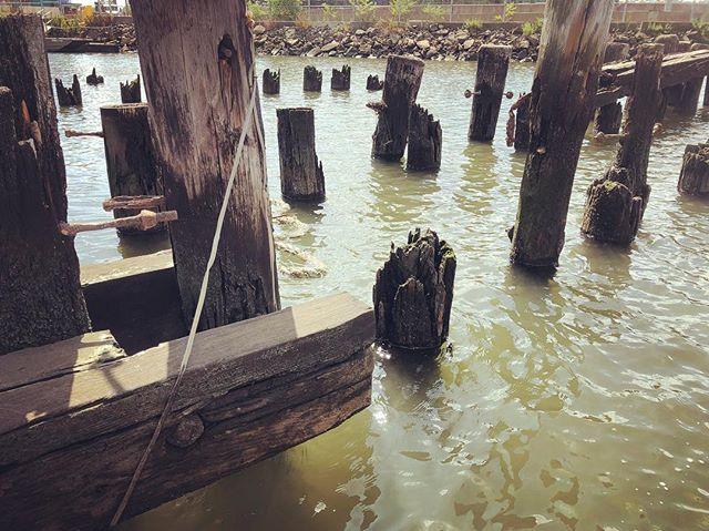The marina of broken dreams #docks #pilings #newtowncreek #brooklyn #nyc