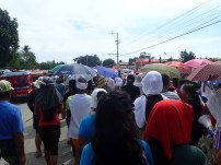 Bakhawan members joined other survivors groups to express opposition to the megaproject.