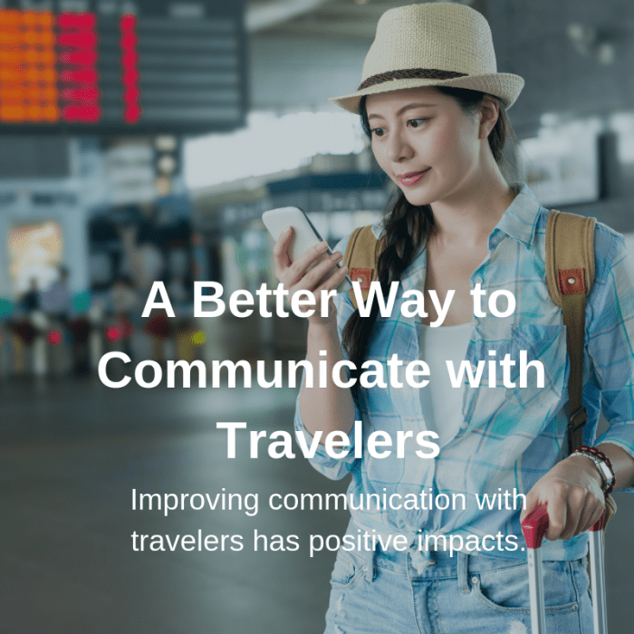 communicating with travelers