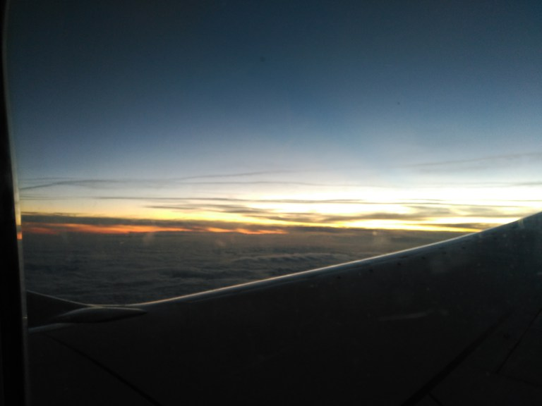 Volando a Frankfurt