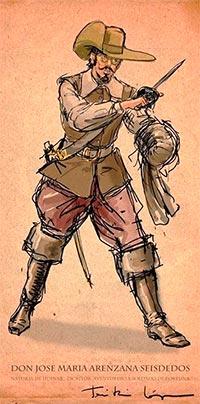 Don José María Arenzana Seisdedos, natural de Huévar, escritor, aventurero y soldado de fortuna