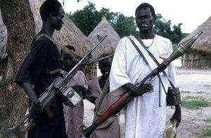 Soldados zarrapastrosos se esparcen casi por cualquier lugar de África.