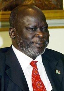 El histórico líder y fundador del SPLA-M en 1983, John Garang, traicionado luego por Riek Machar.